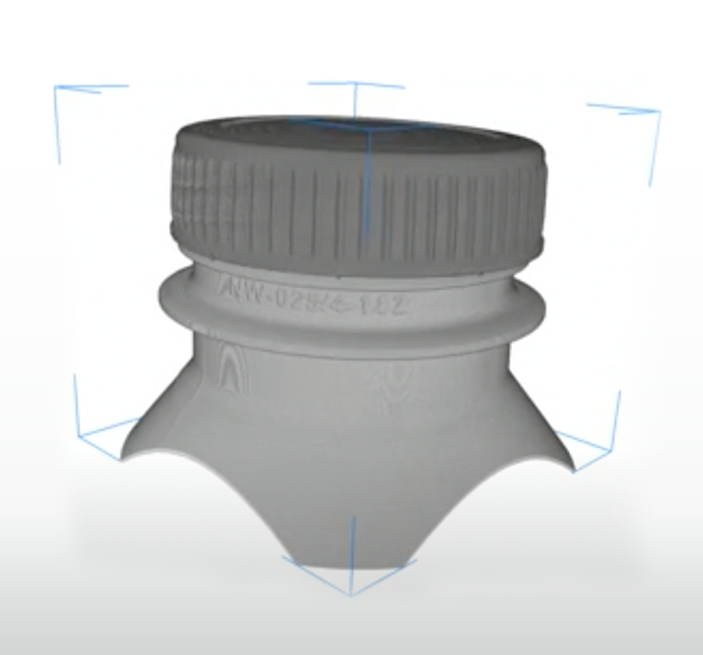 Bottle Cap tested on Fixture Vision Aparatus