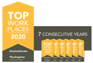 Kinetic Vision named a top Cincinnati workplace for 7th consecutive year
